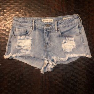 Bullhead low rise denim shorts